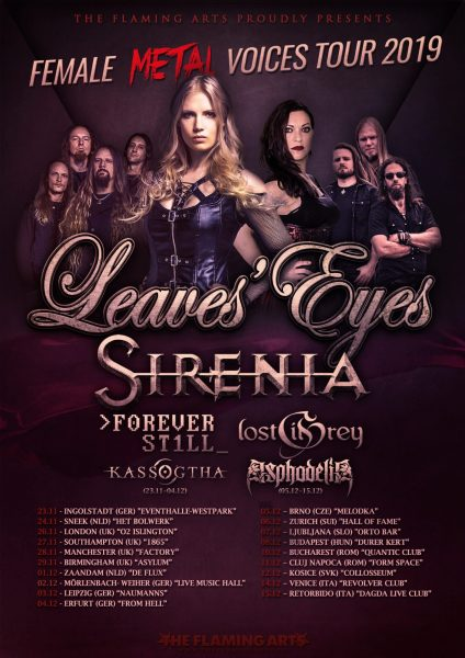 Female Metal Voices Tour final poster