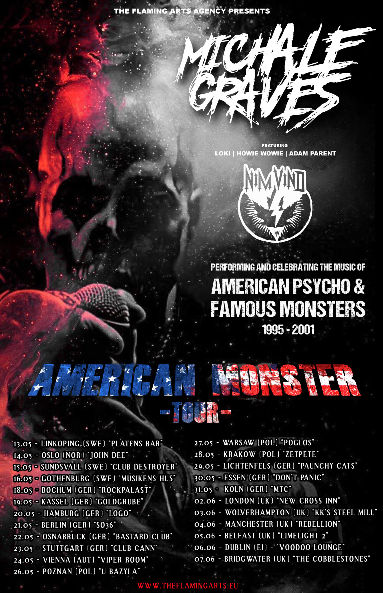 Michale Graves EU Tour Updated